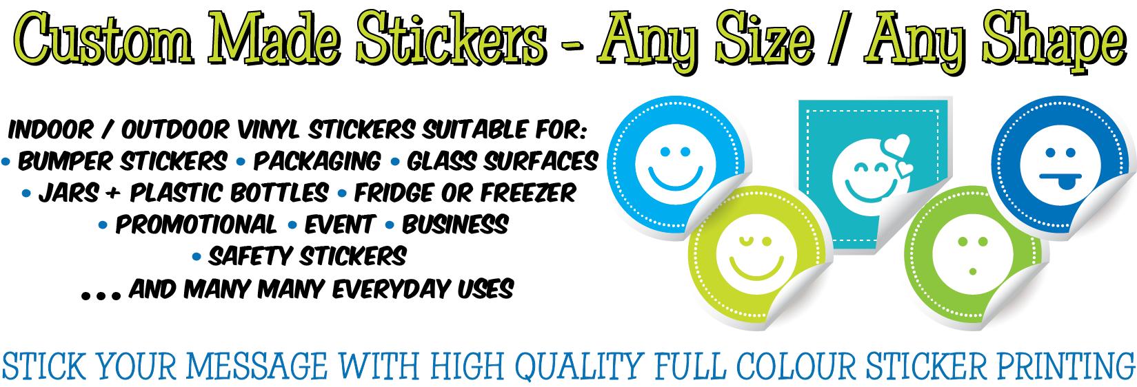 Vinyl Sticker Printing Ipswich